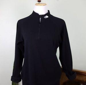 TNF Mock Neck Half Zip Thermal Pullover Black Med
